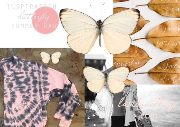 lavidacollage INSPIRATION BUTTERFLY SUMMER BA