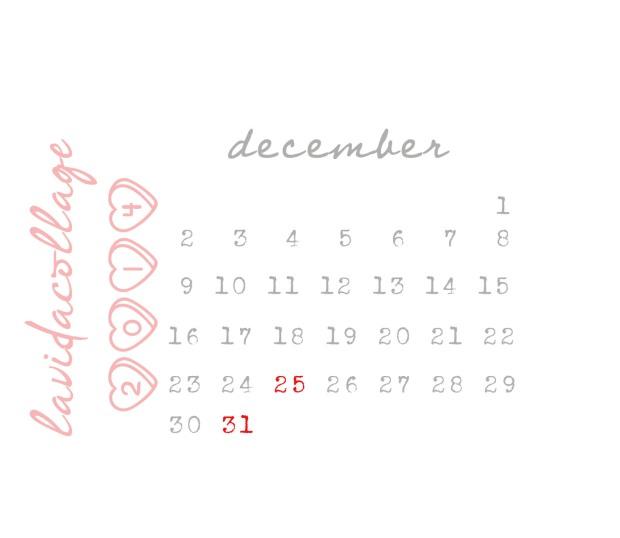 lavidacollage calendario diciembre