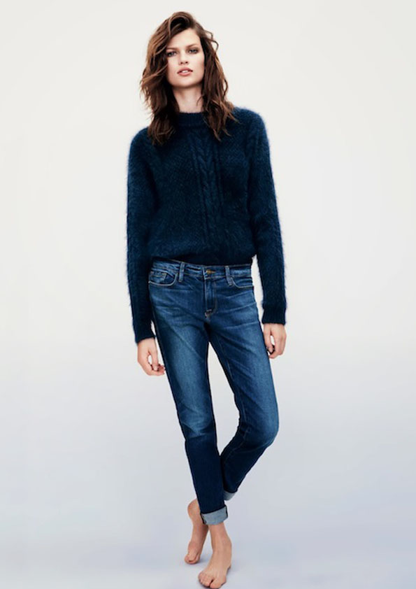 lavidacollage inspiration jeans blue marine