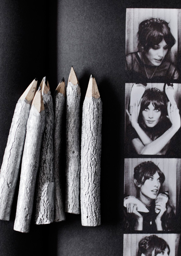 lavidacollage alexa chung black and white